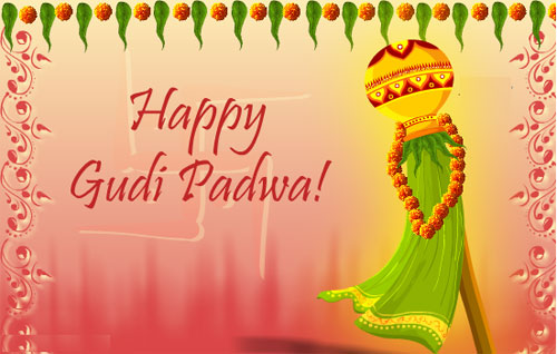 Happy Gudi Padwa 2017 Greeting Cards in Marathi, Hindi & English
